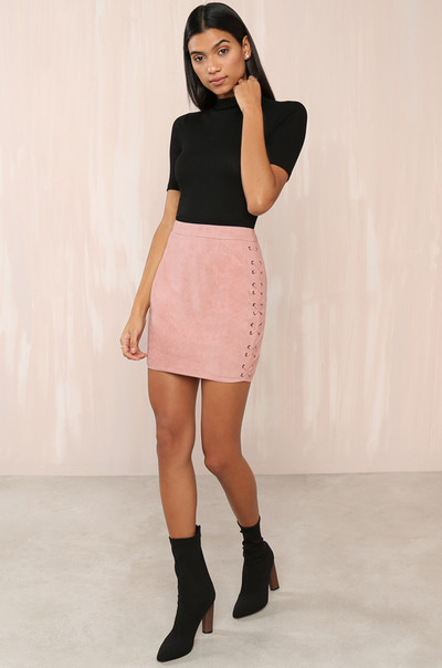 Keep It Short Skirt - Blush