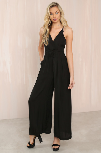 Suit Yourself Jumpsuit - Black