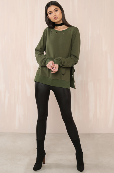 Let's Shred Pullover - Olive