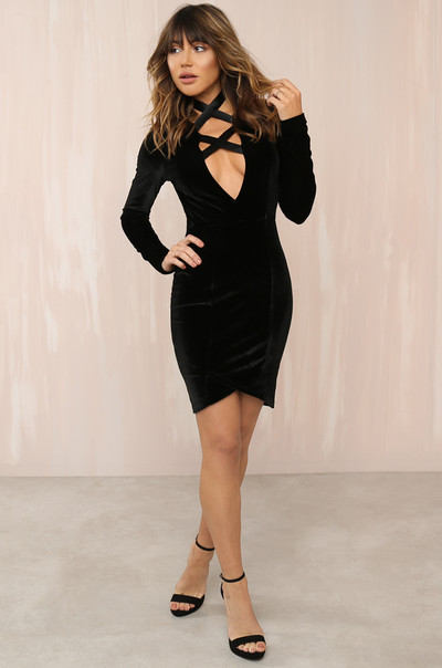 Hold Me Tight Dress - Black Velvet