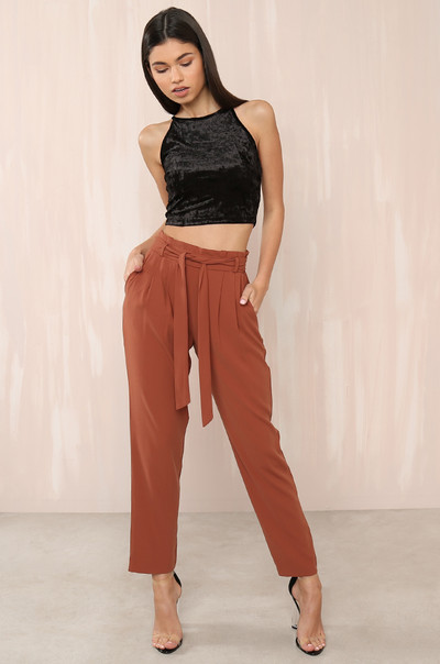 Boss Babe Trousers - Rust