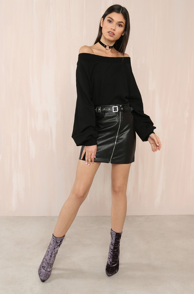 Distress Call Top - Black