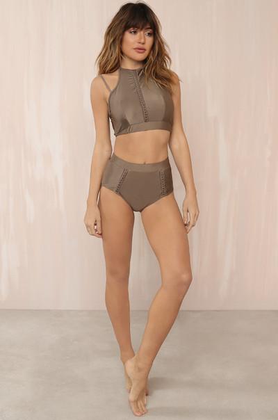 Line Up Bikini Set - Taupe