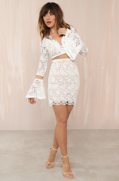 Win The Lace Dress - White