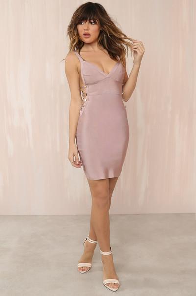 Hot Exposure Dress - Mauve