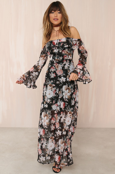 Fleur-Ever Dress - Black Floral