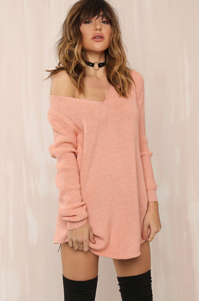 Pull It Off Knit - Blush