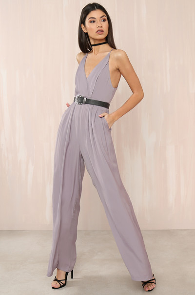 Suit Yourself Jumpsuit - Lavender