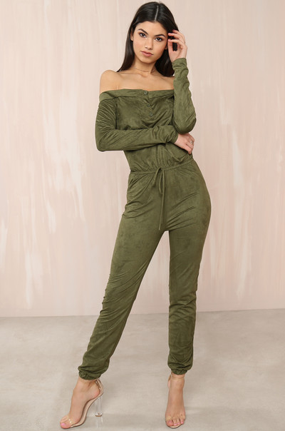 Jump On It Jumpsuit - Olive