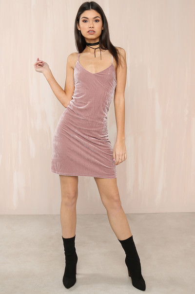 Feelin' Myself Dress - Mauve Velvet