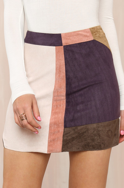 Block List Skirt - Multi