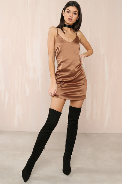 I'm A Cool Girl Dress - Mocha