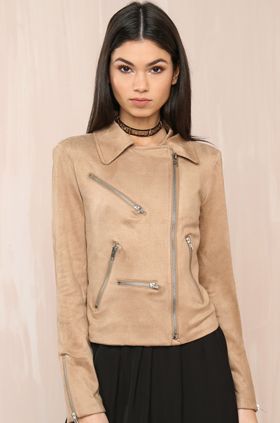 Zip Around Jacket - Nude