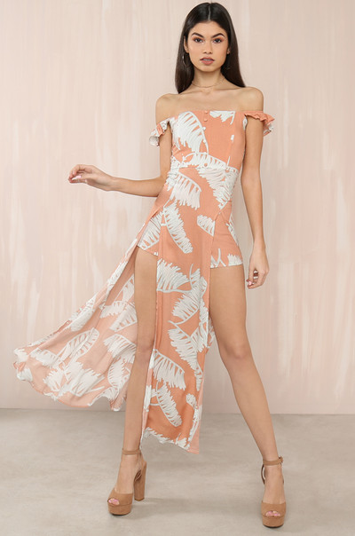 Tropic Dream Romper - Blush