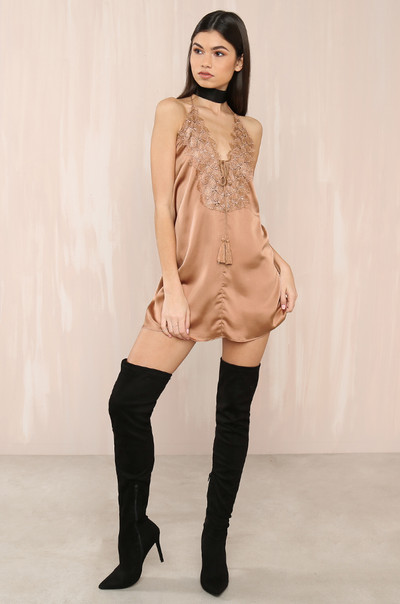 String You Along Dress - Nude