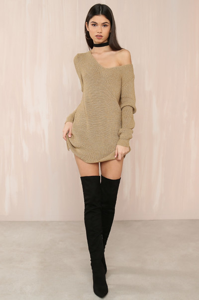 Pull It Off Knit - Tan