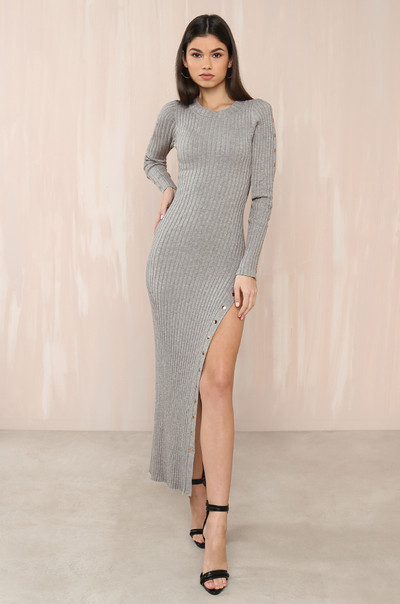 In A Snap Dress - Grey