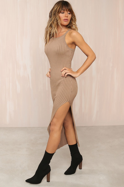 Distraction Dress - Tan