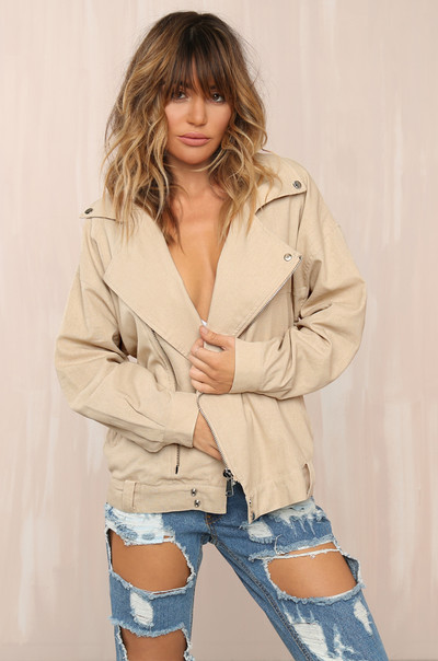 Weekend Guide Jacket - Nude