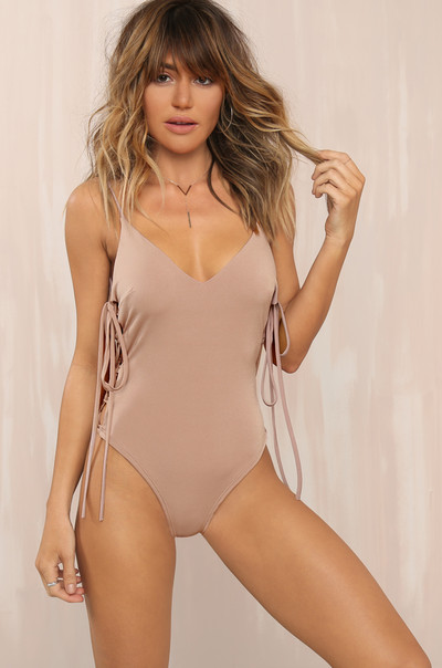 Side Bae Bodysuit - Blush