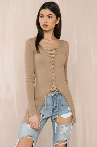 Back To Back Top - Nude