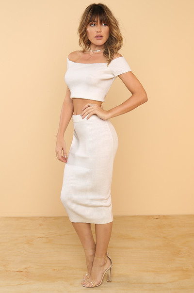 Main Squeeze Skirt - White