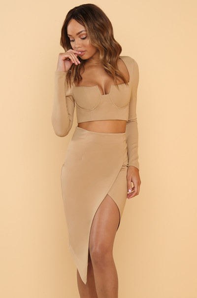 Show Love Co-ord Set - Nude