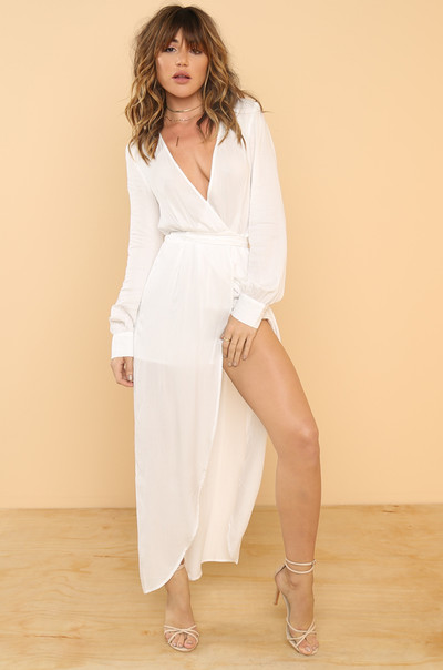 Rising Temperature Romper - White
