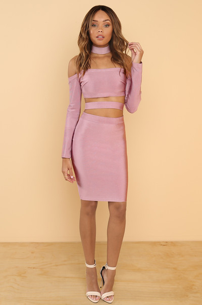 Touch My Body Dress - Mauve
