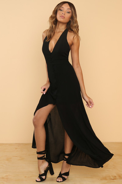 Great Lengths Dress - Black