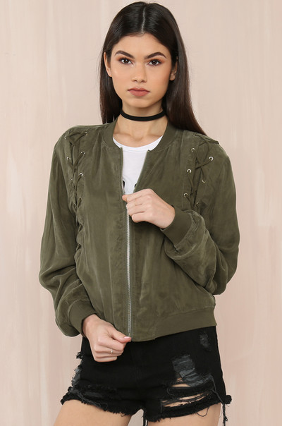 Double Crossed Jacket - Olive