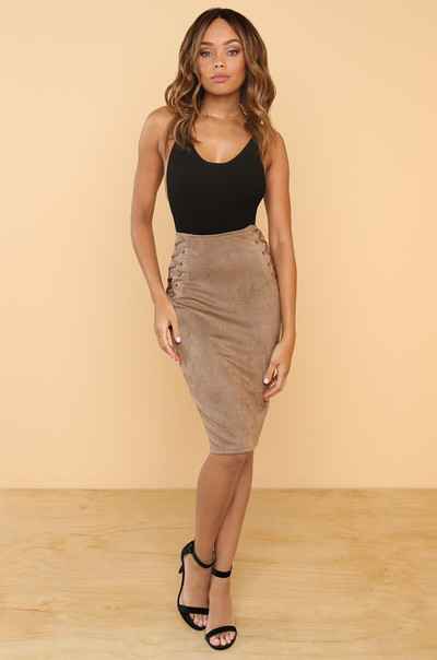 All For You Skirt - Taupe