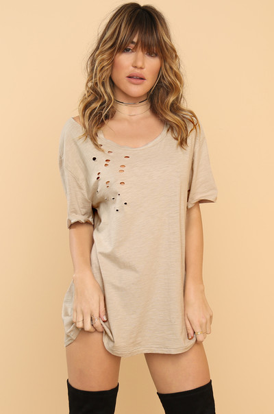 Scoop Me Up Tee - Nude