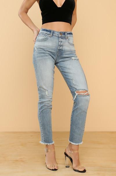 Oh Slit Jeans - Denim