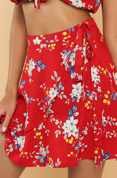 Frill Of It Skirt - Floral