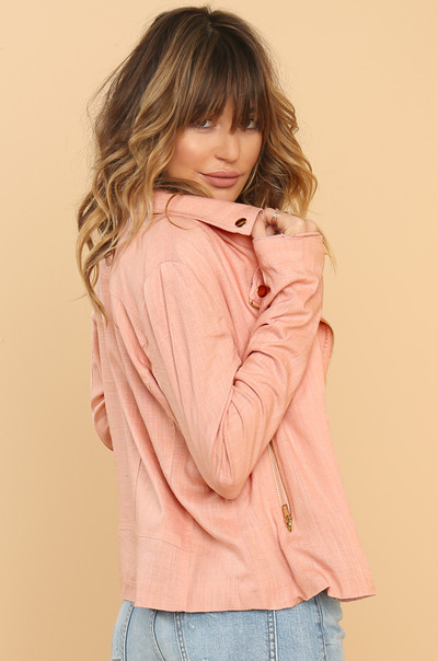 Keepin' It Chic Jacket - Blush