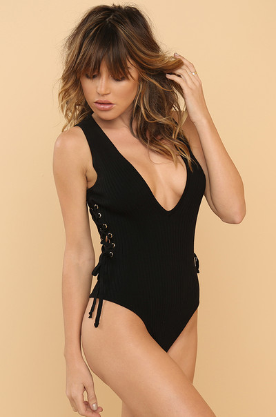 Curve You Bodysuit - Black
