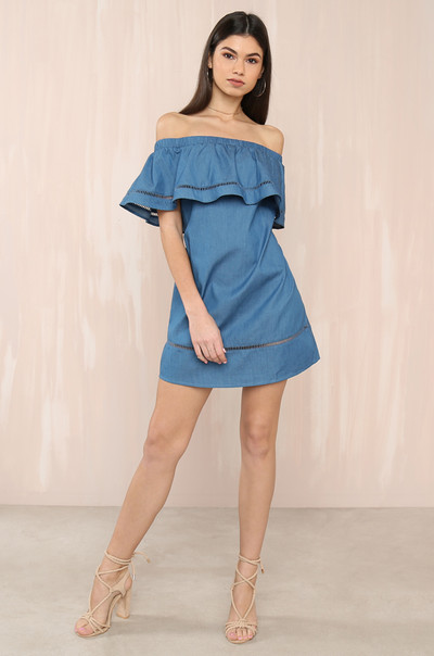 Stay Golden Dress - Chambray