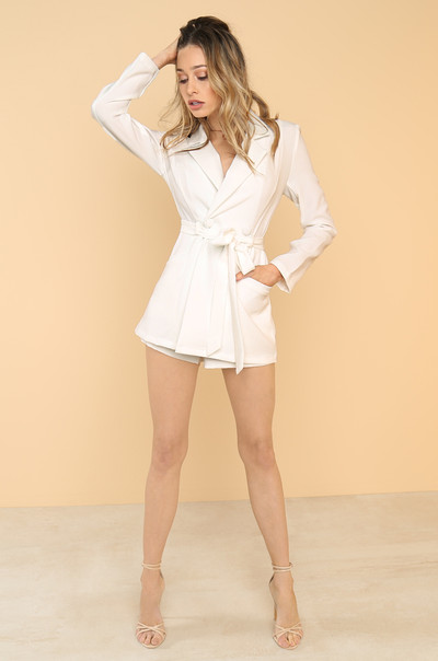 Upgrade You Romper - White