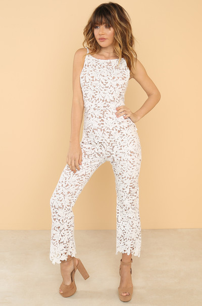 Exclusive Night Jumpsuit - White