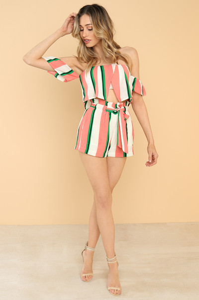 Resort Life Co-ord Set - Striped