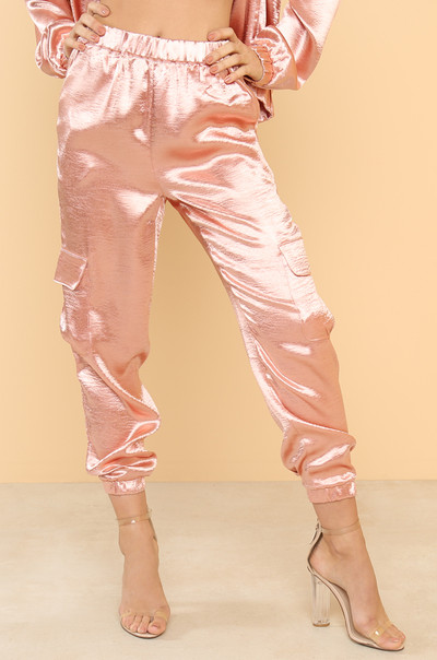 Sweet Walk Joggers - Rose Satin