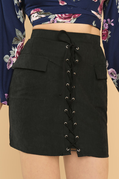 Down The Line Skirt - Black