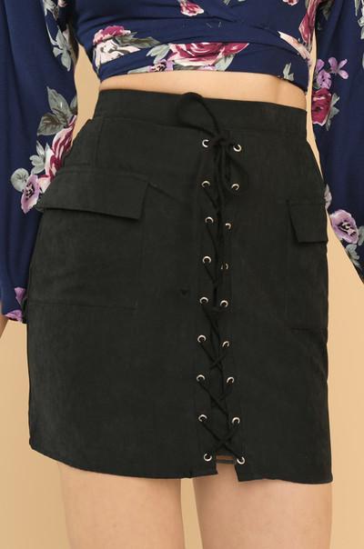 Down The Line Skirt - Black