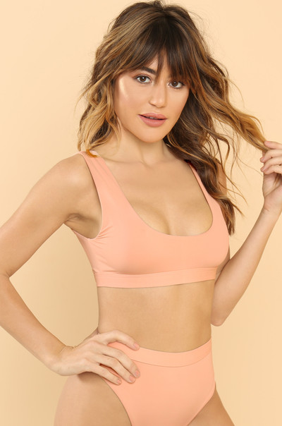New Wave Bikini Top - Blush