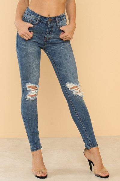 Rough Patch Jeans - Denim