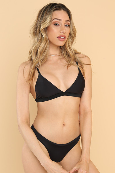 Take A Dip Bikini Top - Black