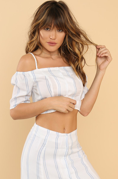Stay In Line Top - Striped