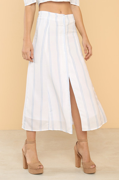 Stay In Line Skirt - Striped