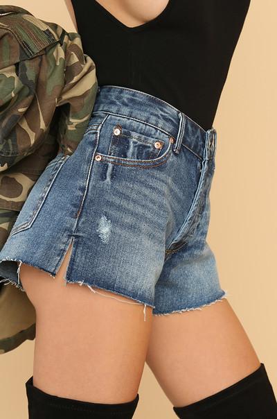 Tough Love Shorts - Denim